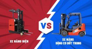 so sánh xe nâng điện và xe nâng động cơ đốt trong